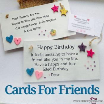 Happy Birthday Card With Name And Photo